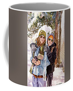 Coffee Mug featuring the painting Icicle by Anne Gifford