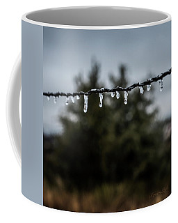 Icicles On Wire Coffee Mug by Karen Slagle