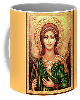 Icon Angel In Green Coffee Mug