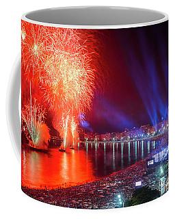 Iconic And Breath-taking Fireworks Display On Copacabana Beach,  Coffee Mug