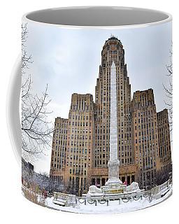 Coffee Mug featuring the photograph Iconic Buffalo City Hall In Winter by Nicole Lloyd