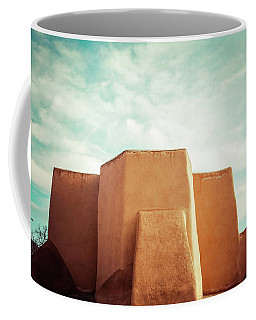 Coffee Mug featuring the photograph Iconic Church In Taos by Marilyn Hunt