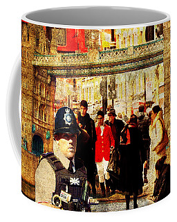 Iconic London Coffee Mug by Judi Saunders