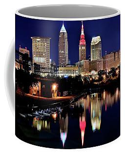 Iconic Night View Of Cleveland Coffee Mug