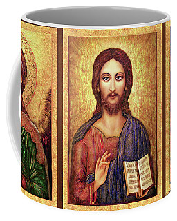 Icons Tryptichon Coffee Mug by Ananda Vdovic