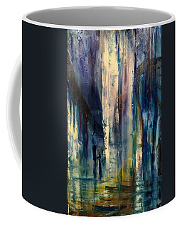 Icy Cavern Abstract Coffee Mug