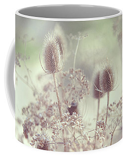 Icy Morning. Wild Grass Coffee Mug by Jenny Rainbow