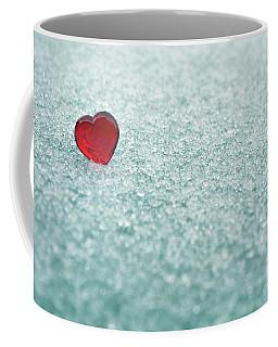 Icy Red Heart Coffee Mug by Liz Masoner
