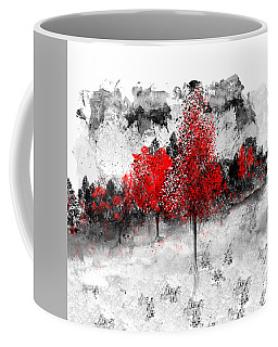Icy Red Landscape Coffee Mug