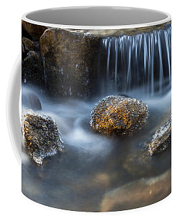 Icy Rocks On The Coxing Kill #1 Coffee Mug by Jeff Severson