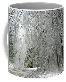Coffee Mug featuring the photograph Icy Street Trees by Rockin Docks Deluxephotos