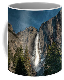 Icy Upper Yosemite Falls Coffee Mug