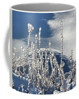 Coffee Mug featuring the photograph Icy World by Doris Potter