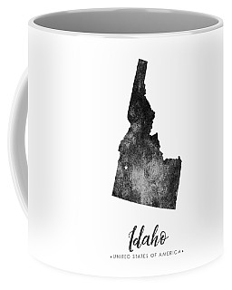 Idaho State Map Art - Grunge Silhouette Coffee Mug