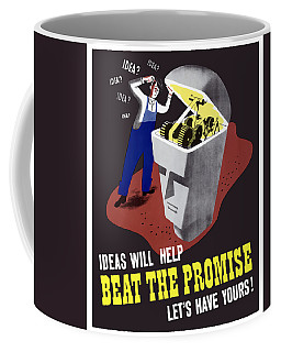 Coffee Mug featuring the digital art Ideas Will Help Beat The Promise by War Is Hell Store