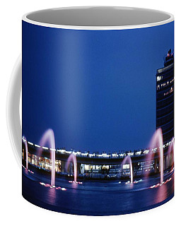 Coffee Mug featuring the photograph Idlewild Fountain And Tower by John Schneider