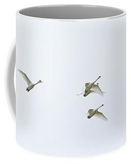 If I Had Wings - Swans In Flight Coffee Mug by Jane Eleanor Nicholas
