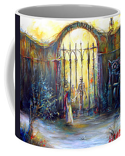 Coffee Mug featuring the painting ...if Only by Heather Calderon