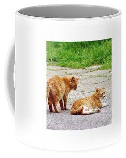 Two Cats Coffee Mug by Ippei Uchida