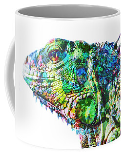 Coffee Mug featuring the painting Iguana by Mark Taylor