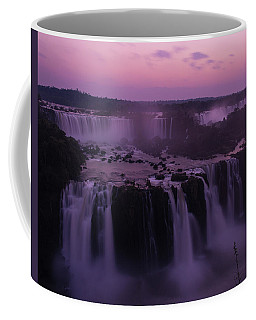 Iguazu Sunset In Violet Coffee Mug