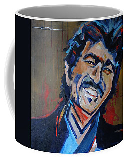 Coffee Mug featuring the painting Illegal Smile by Eric Dee