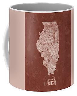 Illinois Map Music Notes 5 Coffee Mug