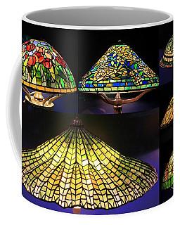 Illuminated Tiffany Lamps - A Collage Coffee Mug