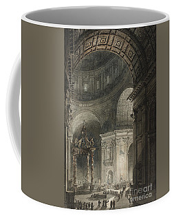 Illumination Of The Cross In St. Peter's On Good Friday, 1787 Coffee Mug