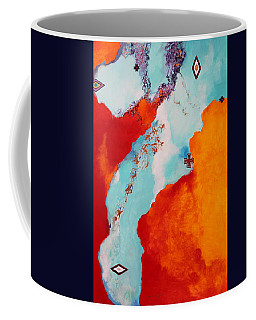 Coffee Mug featuring the painting Illusions by M Diane Bonaparte