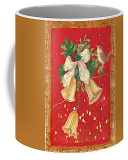 Illustrated Holly, Bells With Birdie Coffee Mug