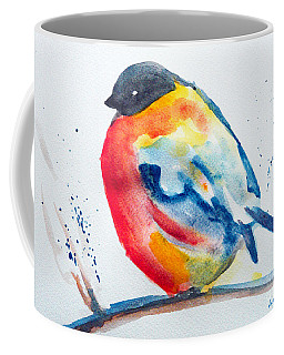 Coffee Mug featuring the painting I'm Cold by Jasna Dragun