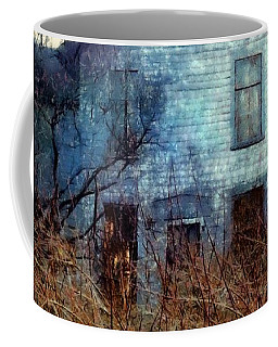 Coffee Mug featuring the photograph I'm Not Home Right Now, Please Leave A Message - Abandoned Farmhouse by Janine Riley