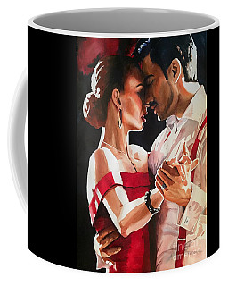 Coffee Mug featuring the painting I'm Passionately Yours by Michal Madison