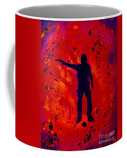 Coffee Mug featuring the painting I'm Rick Grimes by Justin Moore