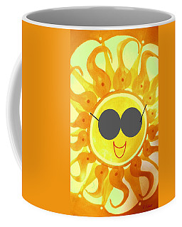 Coffee Mug featuring the painting I'm Too Hot For My Shades by Denise Fulmer