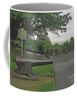 Image Included In Queen The Novel - Cannon At Battery Park Enhanced Coffee Mug