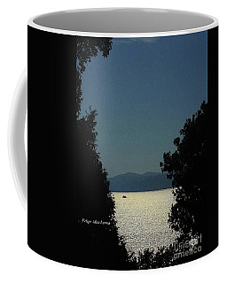 Image Included In Queen The Novel - Light On Lake Champlain 20of74 Enhanced Coffee Mug