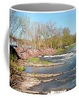 Image Included In Queen The Novel - Winooski River Rocks 21of74 Enhanced Coffee Mug