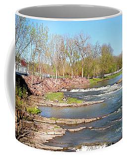 Image Included In Queen The Novel - Winooski River Rocks 21of74 Enhanced Coffee Mug