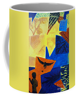 Coffee Mug featuring the painting Imagination by Maria Langgle