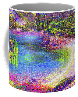 Imagine, Meditating In Beautiful Bay,seascape Coffee Mug by Jane Small