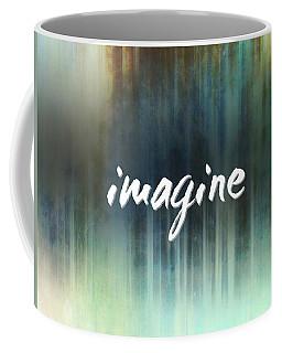 Imagine On Blue Coffee Mug