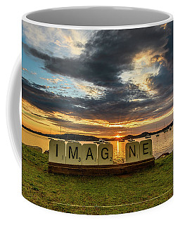 Imagine Sunrise Waterscape Over The Bay Coffee Mug