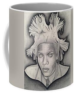 Immortalizing In Stone Jean Michel Basquiat Drawing Coffee Mug