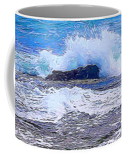 Ocean Impact In Abstract 1 Coffee Mug