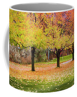 Coffee Mug featuring the photograph Impressionist Autumn by Theresa Tahara