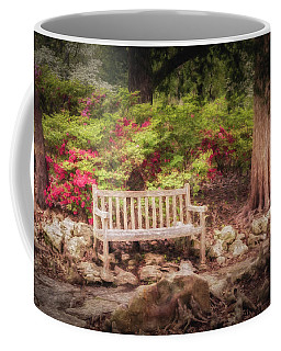 Coffee Mug featuring the photograph Impressionist Bench by James Barber