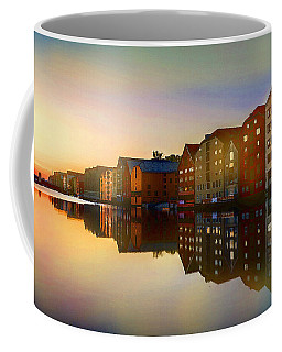 Coffee Mug featuring the digital art Impressionist Waterfront View by Shelli Fitzpatrick
