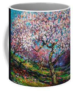Impressionistic Spring Blossoms Trees Landscape Painting Svetlana Novikova Coffee Mug